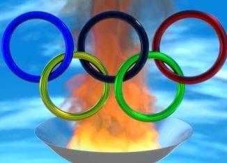 Znicz olimpijski na pellet drzewny