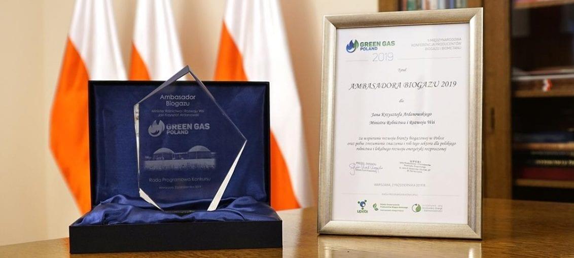 Jan Krzysztof Ardanowski ambasadorem biogazu