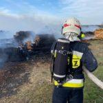 Strażacy walczyli z ogniem